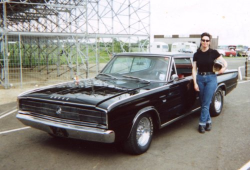 Karen and her 1966 Dodge Charger
